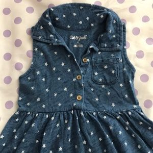 Cat & Jack blue dress with white stars. Size 2T.